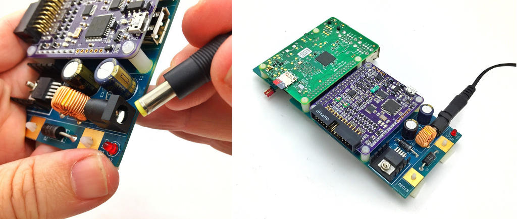 BitScope Blade Connect Power via 2.1mm Socket.