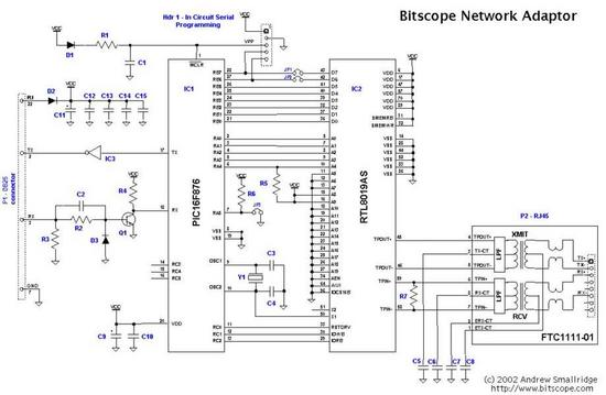 Network Adaptor Schematic