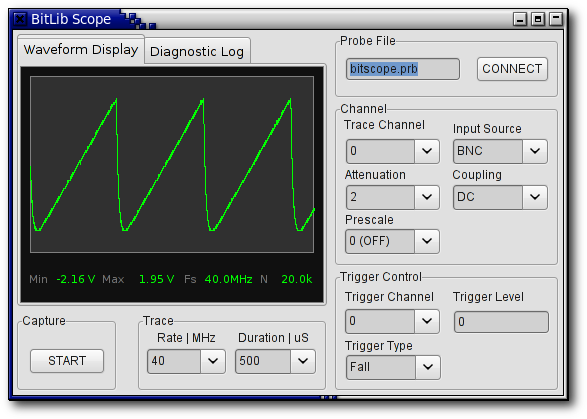 BitLib Oscilloscope Application