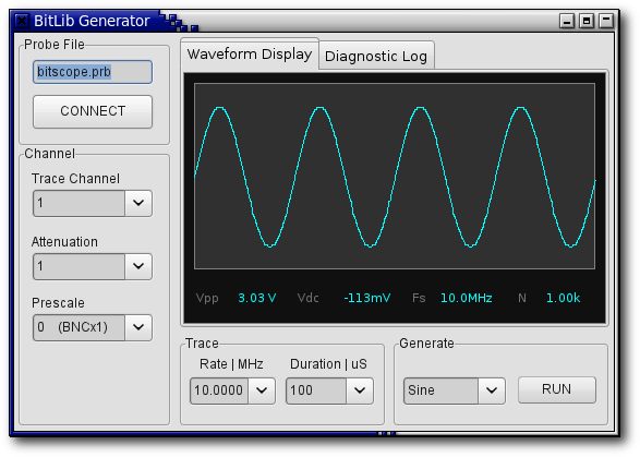 BitLib Waveform Generator Application