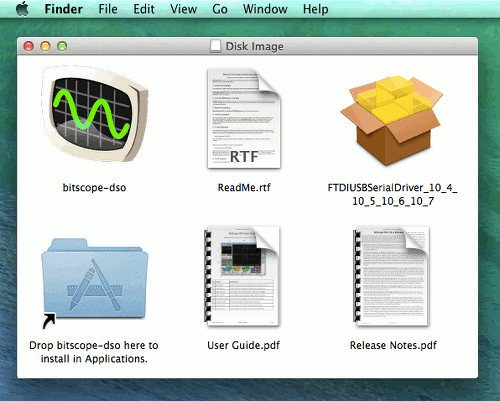 BitScope DSO Mac OS X Simplifed Installation Package