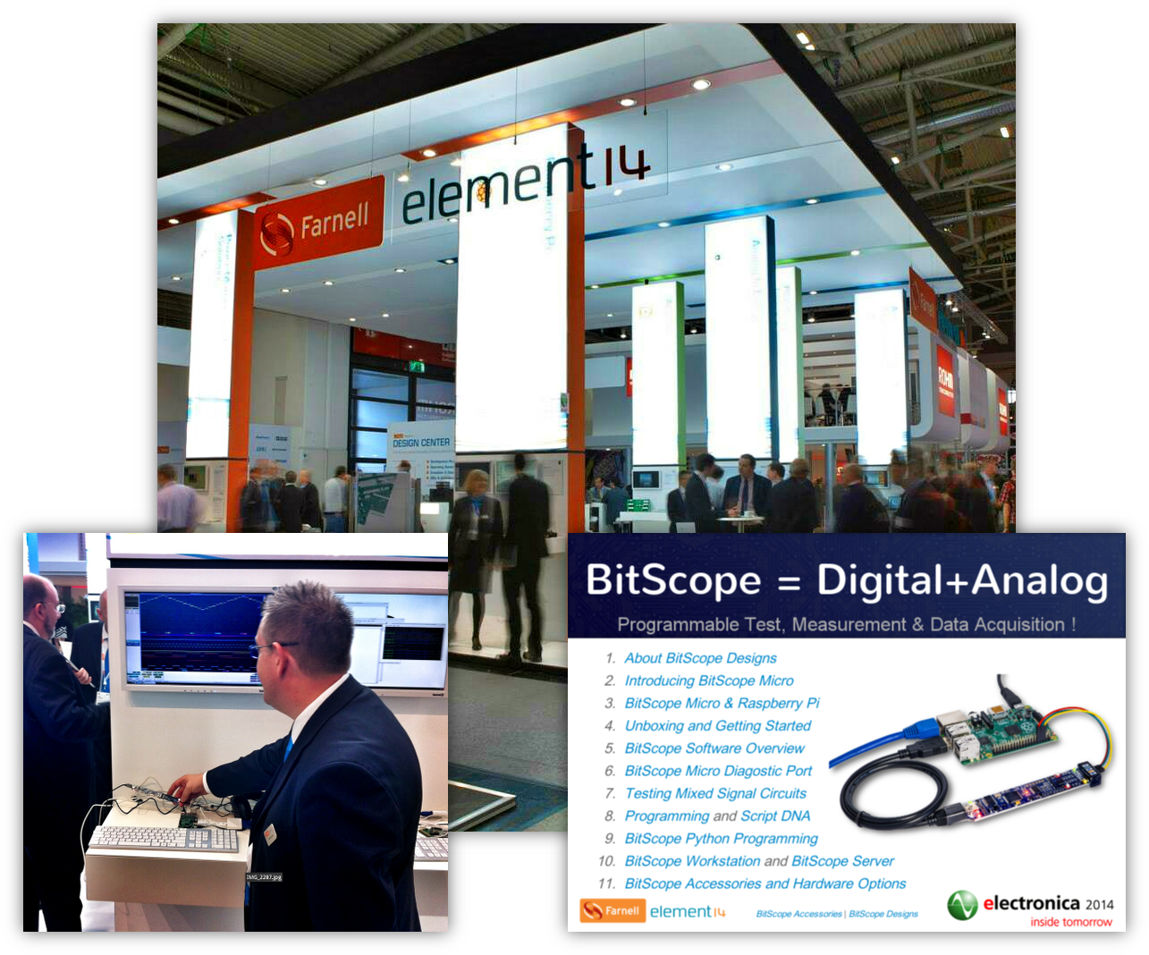 BitScope Micro at electronica with Farnell element14