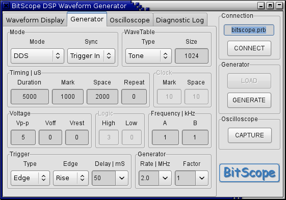 BitGen Generator Parameters
